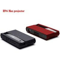 Portable projectors H96 Max 150LM Brightness HD-IN Amlogic S912 Octa core Android 6.0 mini projector