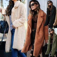 Wholesale Latest New Fashion Design Women Wool  Casual Winter Faux Fur Coat