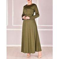 Fashion wholesale price muslim kaftan abaya Pleat dress for women