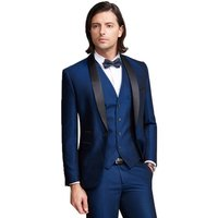 3 Piece Groom Mens Coat Pant Designs Wedding Suit