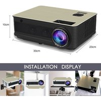 HD Projector 5500 Lumen Android 6.0 WiFi BT Projector (Optional) for Full HD 1080P LED TV Video Projector