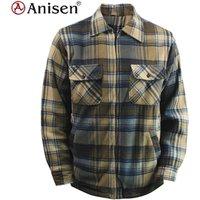 bulk stocks fashion plaids fleece windbreaker jacket for man