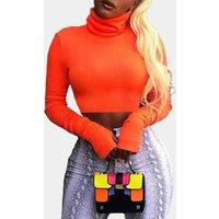 Hot Fashion Autumn Winter Women Crop Top High Collar Short Woman Turtleneck Tight Sweater