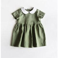 Ins 2019 Hot Selling Fashion Customized Baby Girl Linen Summer Dress