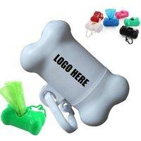 Custom Printing Bone Shape Dog Waste Poop Garbage Dispenser Box Garbage Clean Up Waste Bag Carrier Holder Case