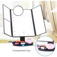 HOT! 22 Led Vanity Mirror with Lights 1X/2X/3X/10X Magnification Touch Screen Switch Dual Power Supply magnifying makeup mirror