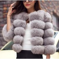 S-3XL Mink Coats Women 2019 Winter New Fashion Pink FAUX Fur Coat Elegant Thick Warm Outerwear Fake Fur Jacket Chaquetas Mujer