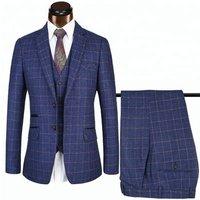 Tweed Slim Fit 3 Piece Checked Business Men Suit