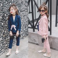 Wholesale Girls Clothing 2016 Hot Sale Suit In Children Pant And Coat