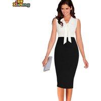 Best selling bow pencil skirt women trendy office lady wear dress