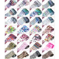 'Wholesale Over 400 Designs Plastic Paper Nail Transfer Foil Sticker Decal In Stock