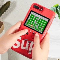 Retro Game Console Phone Cover Full Color Display Game Chargeable Smartphone Case For iPhone XS Max XR X 7Plus 6