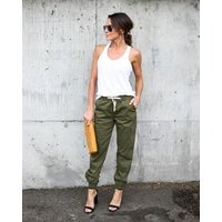 Autumn New Fitness Long Pants Female Leisure Soft Trousers for Women Drawstring Solid Color Casual Harem Pants Woman M-XXL Size