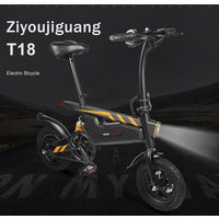 250W 36V 6AH Green Power Electric Bike Folding Electric Bicycle T18 with Lithium Battery Steel Frame US Warehouse Free Shipping