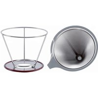 Stainless Steel Reusable Drip Cone Coffee Filter with FDA certificate