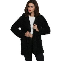 Lamb Faux Fur Coat Winter Coat Factory Custom Medium Faux Fur Coat Women