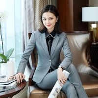 Women Blazer Elegant Formal Suit Women Ladies Silk Pants Suit blazer with pants for women