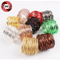 Various color metal wire cheap napkin ring