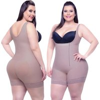 D031 plus size xxxxxxl corset fat women tummy and thigh shapewear boxer shaper