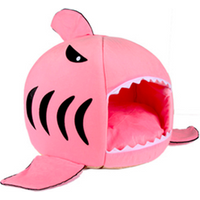 'Soft Shark Pet Dog Cat Bed Sleeping Tent House Cage Cave Nest Luxury With Removable Cushion