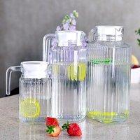 Free sample 1L wholesale ribbed milk juice water glass  jug