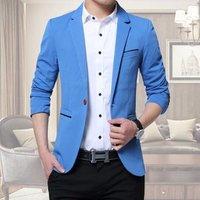 5 Color M-5XL Men Casual Suit Business Style Fashion Design Long Sleeve Slim Fit Suits Blazer One Button Jacket Outwear Coats