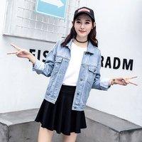 Women Korean Fashion Denim Jaket 100% Cotton Jean Jacket Wholesale