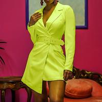 Elegant Occident Dresses Women Dress Office Casual Blazer Dress Autumn Slim Suit Ladies Dresses
