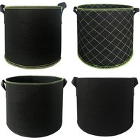Garden Grow Bags 5-Pack 3 Gallon 5 Gallon 10 Gallon 25 Gallon  Aeration Fabric Pots Container Felt Plant Pot with Sturdy Handles