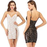 Sleeveless Women Summer Dress Bandage Bodycon Dress Backless Lady Night Club Slim Girl Banquet clubwear Dress
