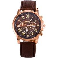2018 luxury Brand Geneva Watches Women Men Casual Roman Numeral Watch For Men Women PU Leather Quartz Wrist Watch relogio Clock