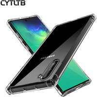 Case For Samsung Galaxy Note 10 10pro Cover Mobile Cell Phone Anti-fall Airbag Transparent Tpu Clear Case Note 10 pro Case Cover