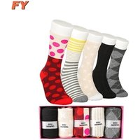 Hot sell cheap novelty fashion new design women socks for men custom crew cotton happy dress sock wholesale korean colored socks