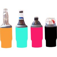 Double Wall Vacuum 12oz Stainless Steel Insulated Skinny Can Cooler Holder Multi-function Beer Can Bottle Insulator