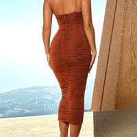 Women Sexy spaghetti strap Summer Wrap Bodycon Elegant Party Robe Dresses Female