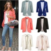 Ecoparty 2019 New Spring Ladies Blazer Long Sleeve Blazer Women Suit jacket Female Candy Color Work Office Women Blazers
