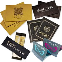 Custom Clothing Private Brand Name Logo Cloth Damask Main Woven Garment Labels For Jacket Coat And Suit Clothes