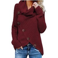 New Arrival Buttoned Wrap Turtleneck Sweater Women Cardigan Knitted Sweater
