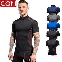 short sleeve custom compression logo gym sportswear fitness clothing wear jacket tights t shirt tops apparel for men