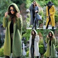 New Autumn Winter Women Hooded Coat Cashmere Cardigan Sweater Coat Lady Solid Color Coat Thick Soft Fashion Jacket Long Plus Siz