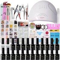 Pretty nail art decoration tools manicure uv gel lamp kit