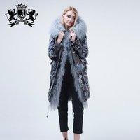 Jacket women winter parka real fur mongolian sheep fur coat fur hooded parka