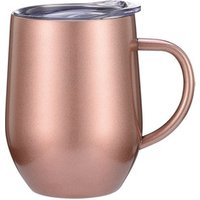 WeVi 12oz stainless steel vacuum double wall  insulated eggshell coffee tumbler with handle