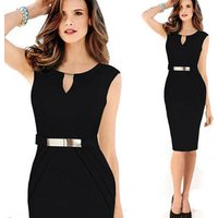 Seller factory Apparel clothes New Womens Elegant Slim Office Lady Pencil Bandage Dress Wear