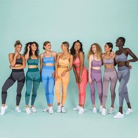 New Quick-drying Yoga Vest Suit Sports Running Seamless Fitness Bra And Leggings Set