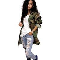 Newest Style fashion autumn women clothing army camouflage jacket