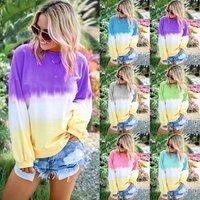 J13 2019 autumn tie dye blouse women tie dye shirts ladies tie dye womens clothing