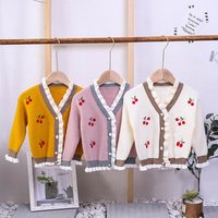 Newest Hot Sale Pure Female Boutique Sweater Cardigan Coat Comfortable Baby Knitted Sweater