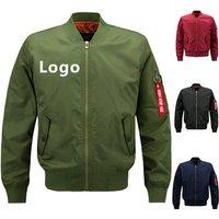 Men Custom MA1 Army Tactical Military Sports Bomber Jacket