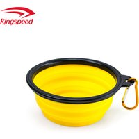 'Travel Collapsible Silicone Dog Bowl Foldable Expandable Dish For Pets